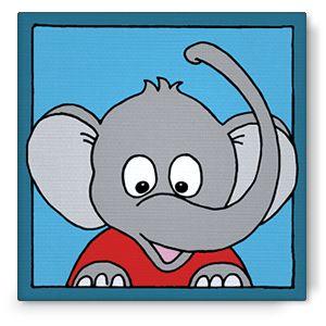 Bibado.nl - kinderschilderij olifant, creator: Arjan Ceelen