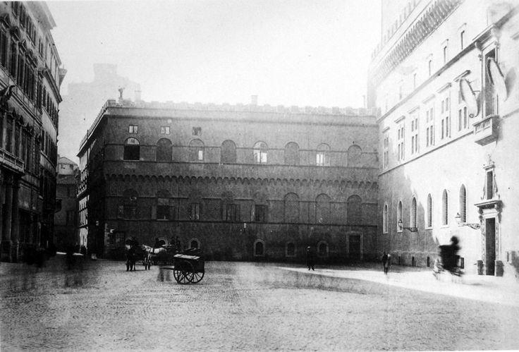 piazza venezia prima del vittoriano