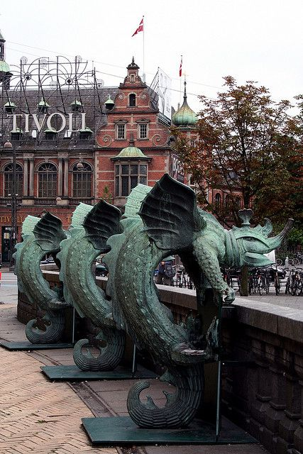 Dragons in Copenhagen, Denmark