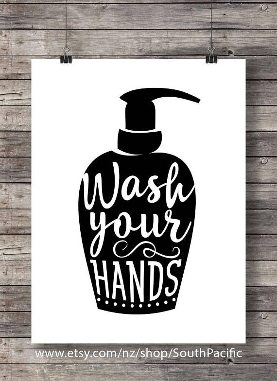 Wash Your Hands Bathroom Printable Art Kitchen Hygiene Etsy Bathroom Printables Bathroom Signs Bathroom Art Printables