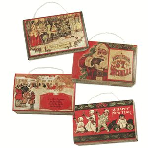 Old Fashioned Christmas Candy Boxes.  TheHolidayBarn.com
