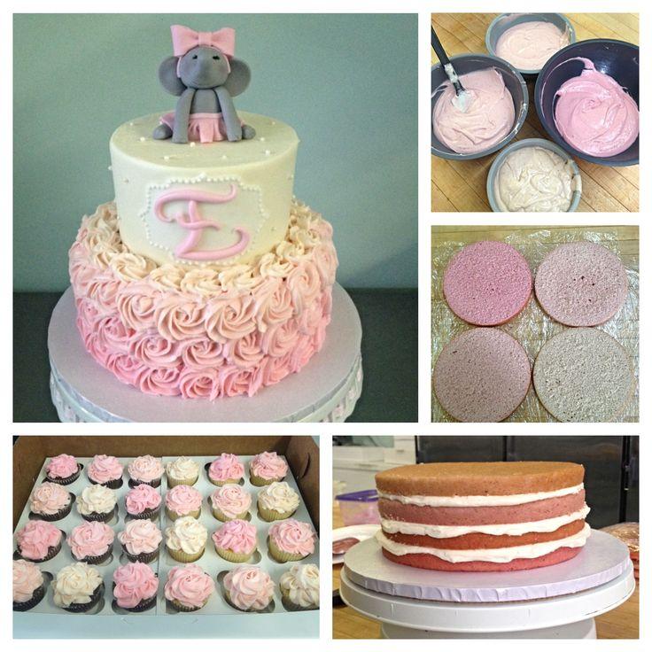 baby girl shower cakes buttercream