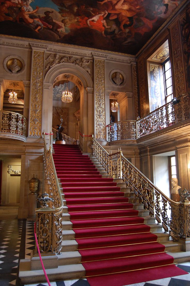 Main Hallway Of Chatsworth House, A Stately Home In England. Part 72