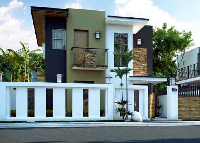 Double story house plan floor area 93 square meters mi - Contemporary house plans and designs ...
