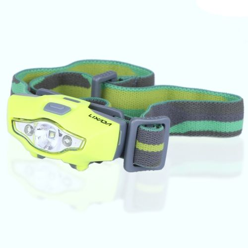 LIXADA Ultra Bright Headlamp Flashlight White Red Strobe Emergency Water-resistant Light Reading  Electrical Working Auto Repairing Running Walking Camping Hiking Fishing Hunting Indoor Outdoor Activities Use Black