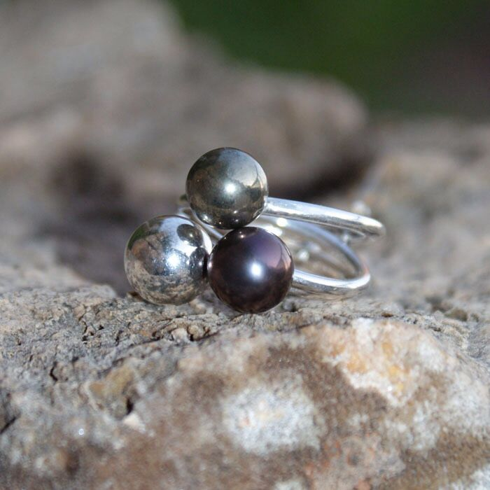 Beautiful combination of Silver,Pearl and pyrith