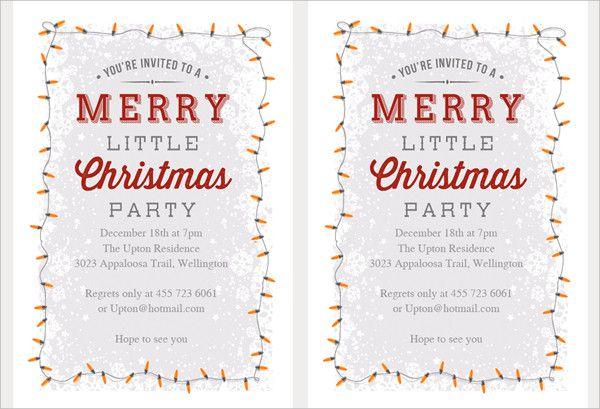 21 Christmas Party Invitation Templates Free Psd Vector Ai Eps Ideas