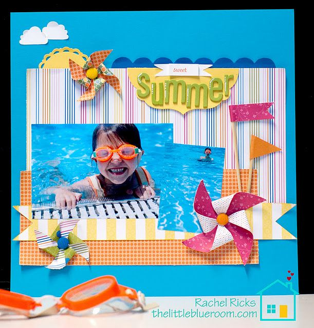 Stampin' Up!  Scrapbook Layout  Rachel Ricks
