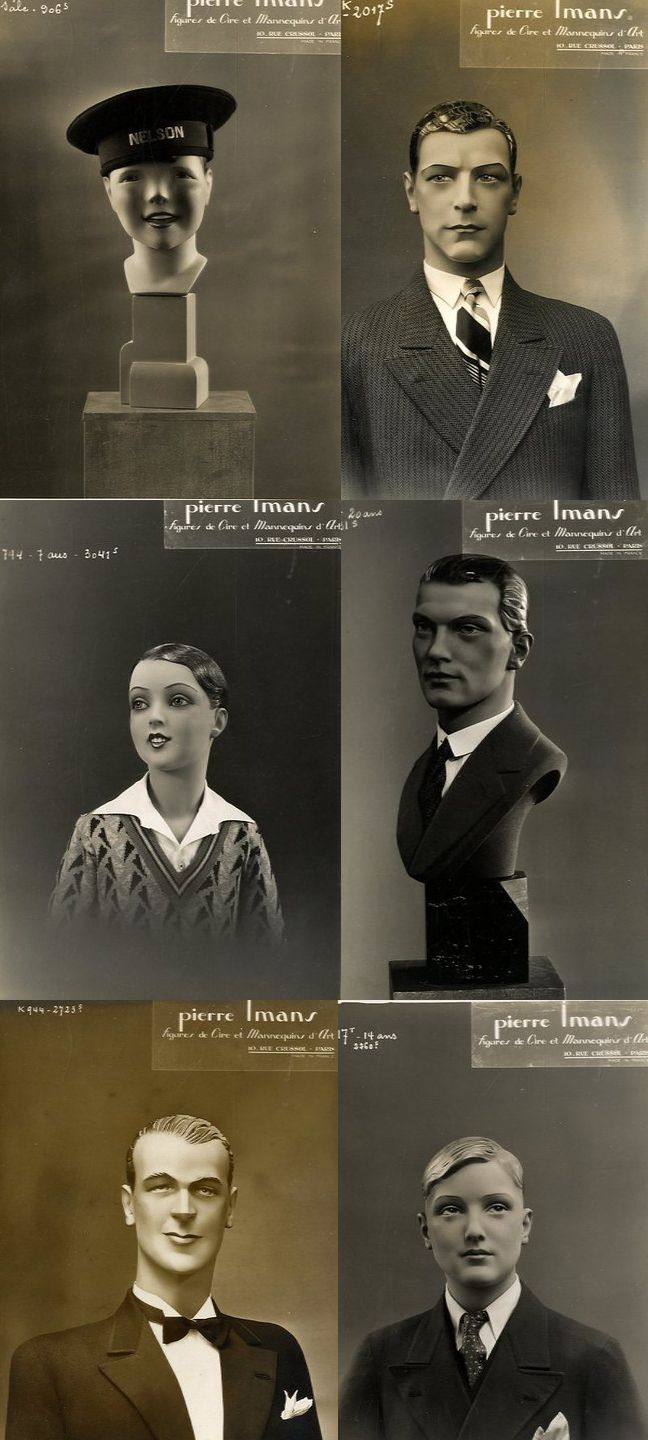 Male mannequins - vintage French catalogue page