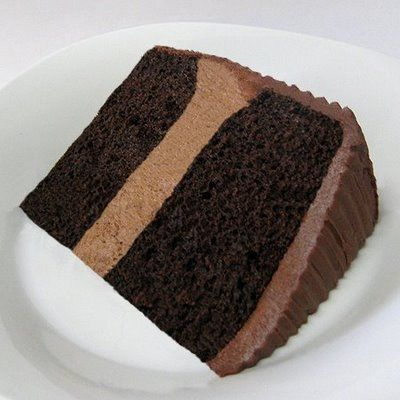 Chocolate mousse cake - used 2 pkgs of Duncan Hines dark chocolate fudge cake mixes in 9-inch pans (had to trim some off the top). I doubled the chocolate icing recipe and used the amount of mousse called for. The cake was a huge hit and was delicious.