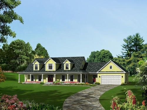 Plan H121d 0004 The Samantha At Menards Country Style House Plans House Plans Country House Plans