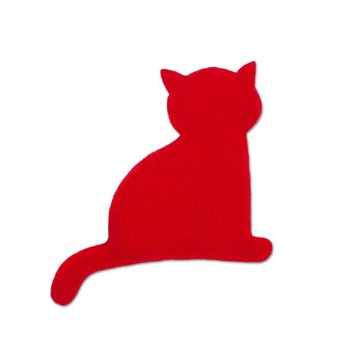 Knotsknetter - Leschi Minina de Kat warmtekussen rood-zwart - Slaapkamer