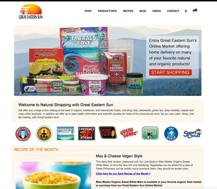 We're super excited to share the opening of the brand new Great Eastern Sun website! Great Eastern Sun offers home delivery of all 9 of their awesome #organic and natural brands, Miso Master Miso (that's us!), Emerald Cove Sea Vegetables, Organic Planet Pasta, Emperor's Kitchen and Sushi Sonic Asian Condiments, Mother India Organics, Haiku Japanese Teas, One World English Teas, and Sweet Cloud Rice Syrup. You'll also find tasty (and printable!) recipes and other healthy lifestyle tips!