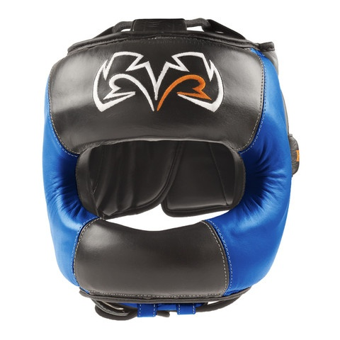 Rival RHGFS1 Face Saver headgear. Black & Blue version