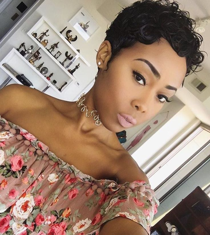 Cute pixie @iamjaelroumain - https://blackhairinformation.com/hairstyle-gallery/cute-pixie-iamjaelroumain/