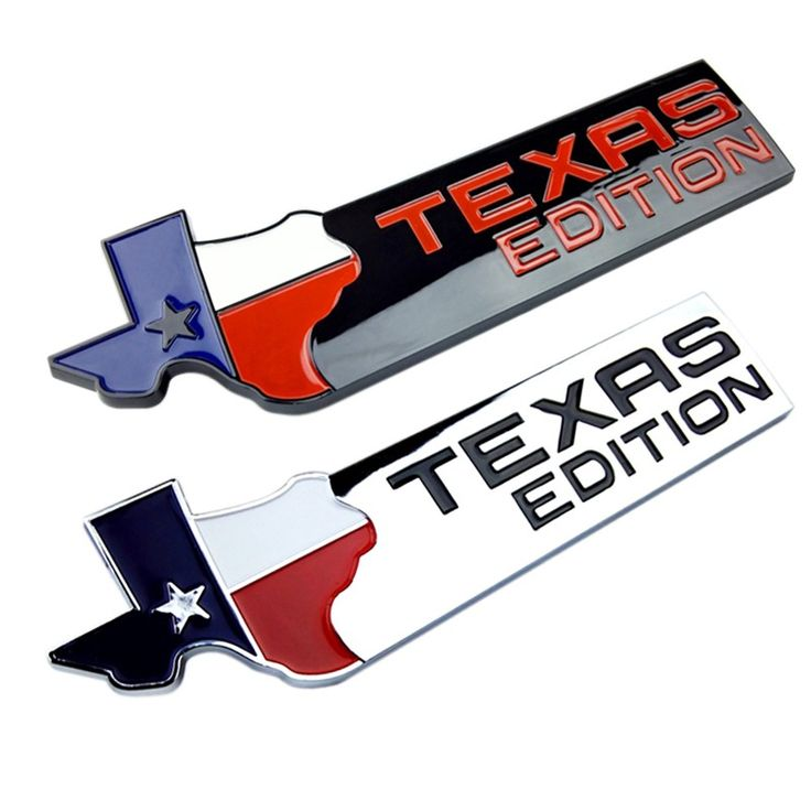 OTOKIT TEXAS EDITION Trunk CHROME Car Tail Emblem Side Wing Badge Car Fender Sticker for JEEP Renegade Wrangler Patriot Cherokee