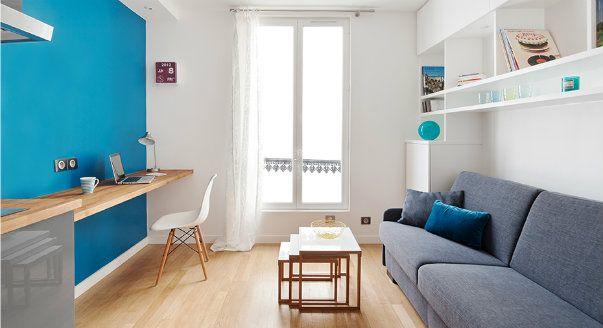 Фото очень маленьких квартир: Париж, студия 15 кв. м