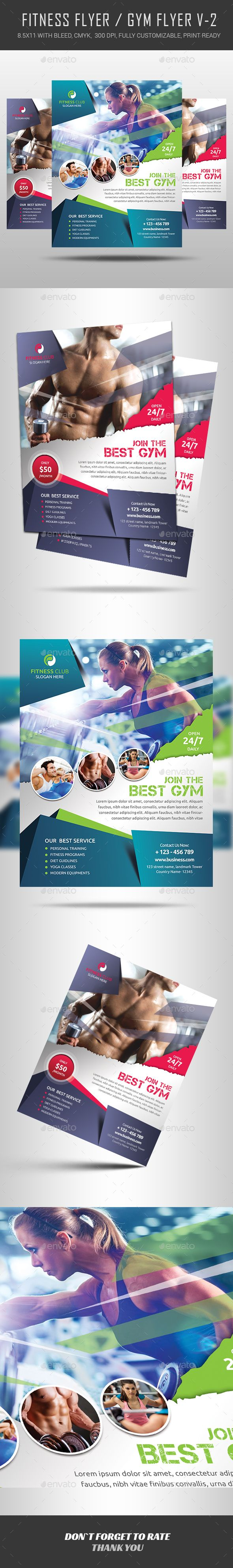 Fitness Flyer — Photoshop PSD #training #aerobics • Available here → https://graphicriver.net/item/fitness-flyer/12294825?ref=pxcr