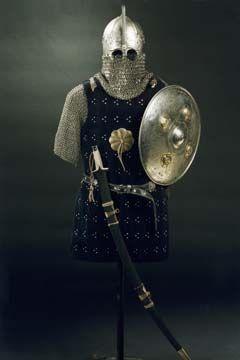 Комплекс ордынского воина (бригантина, кольчуга, шлем, щит, сабля)