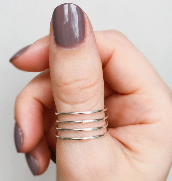 Featured #etsy Seller: Silver Spiral Thumb Ring, Wire Thumb ring, Silver thumb ring, Wrap thumb ring, Sterling silver thumb… #jewellery