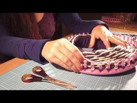 ▶ Mütze/Beanie mit Muster stricken mit dem Knitting Loom bzw. Strickring…