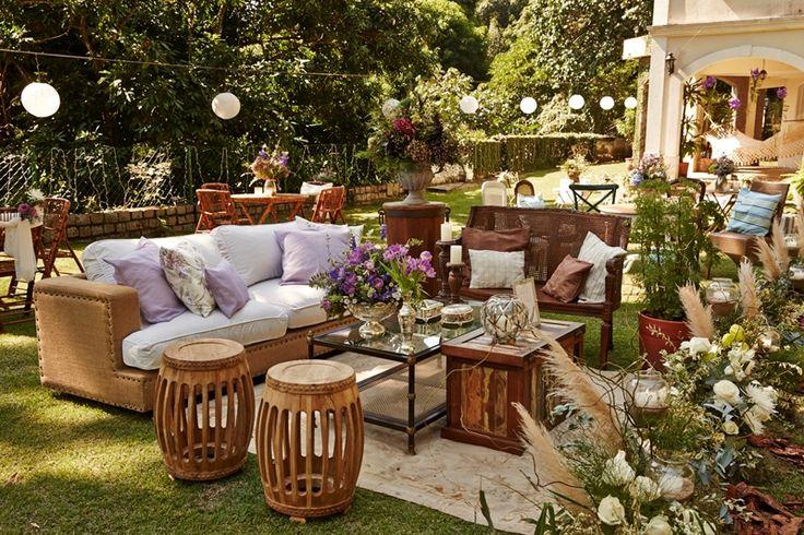 casamento boho - decoracao rustica - lounge para casamento