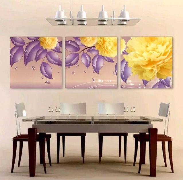 Триптих картины столовая