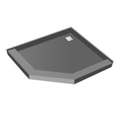 """Tile Redi Neo Angle Square Shower Pan Size: 5.75"""" H x 42"""" W x 42"""" D"""