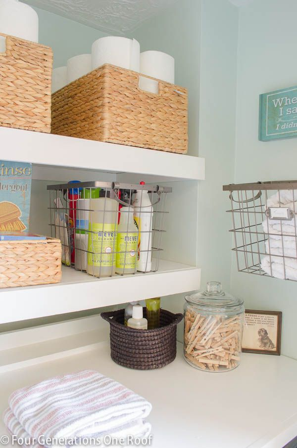 DIY laundry room reveal {before and after}