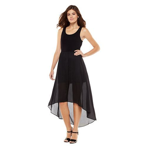 Lauren conrad black maxi dress
