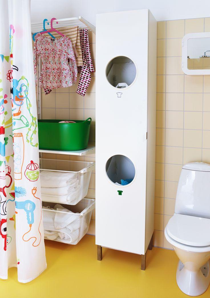 Handig voor in een kleine badkamer - wasmanden