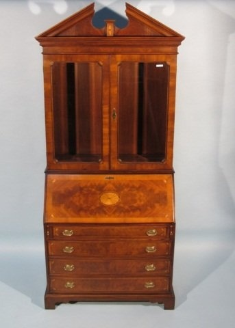 Hekman Inlaid Mahogany Secretary Desk, late 20th century