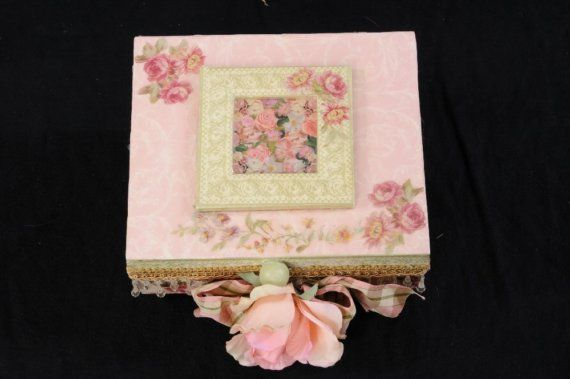 Handcrafted Pink  Victorian Decorative Home Accessory  Jewelry Box