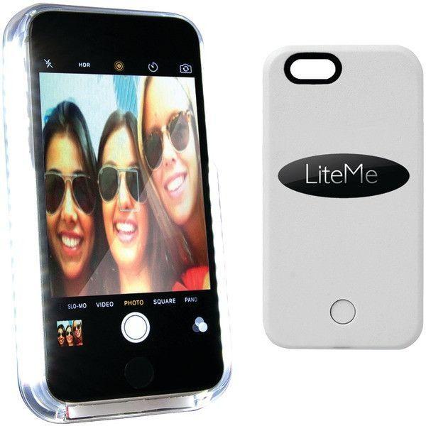 serene-life iphone(R) 6/6s lite-me selfie lighted smart case (white)