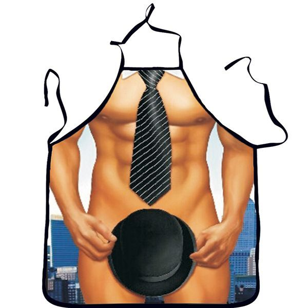 Washable 3D Muscle Male Apron Naked Muscle Men Kitchen Cooking Barbecue Apron Gift For Boyfriend #MuscleMen