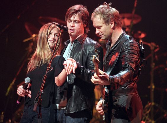Jennifer Aniston, Brad Pitt, Sting