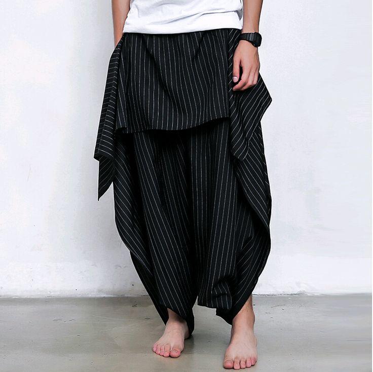 Goedkope mode gestreepte 2015 druppel kruis hip hop punk gothic mannen casual kleding vintage culottes broek harem broek mannen broek, koop Kwaliteit casual broek rechtstreeks van Leveranciers van China:    van harte welkom om onze winkelKleur: als de