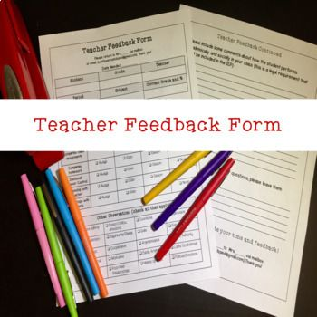 47 best IEP Organization images on Pinterest Autism classroom - student feedback form