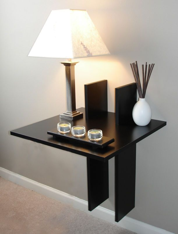13 best floating nightstands images on pinterest for Space saving nightstand
