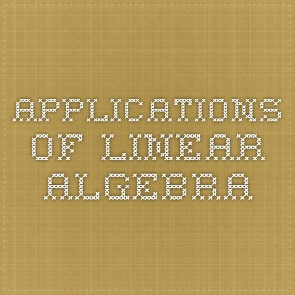 applications of linear algebra in computer science pdf