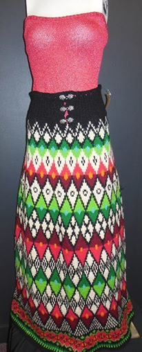 Vintage hand knit skirt from Norway! Stunning. www.wishlistconsign.com