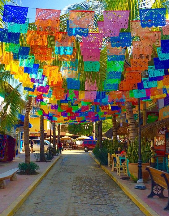 Colorful vibes in Sayulita, Mexico.