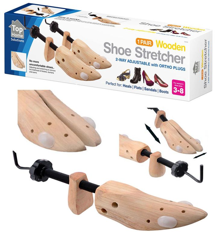 1x Pair Of Women's Wooden Shoe Stretcher. This Beautifully Grained Hardwood Shoe Stretcher Expands To Lengthen Or Widen Shoes And Also Features Special Pressure Relief Plugs That Position To Custom Stretch Specific Pressure Points For Relief From Bunions, Hammer Toes, Calluses Or Corns. | eBay!
