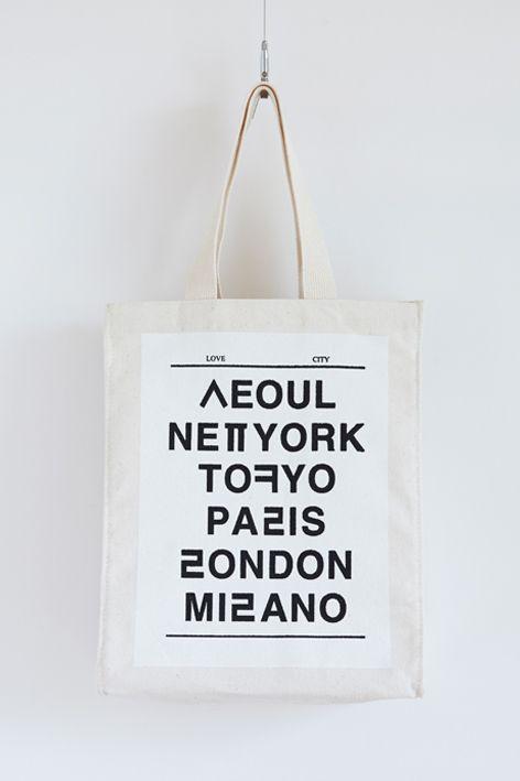 NOHANT Love City Seoul bag (nice use of Hangul + English)