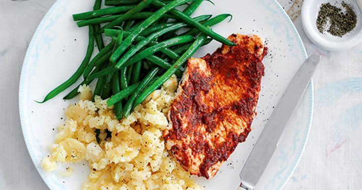 This speedy recipe for Italian-style turkey steaks with crushed potatoes brings together balsamic vinegar, garlic, and lemon to create a dish you'll want to make again and again.