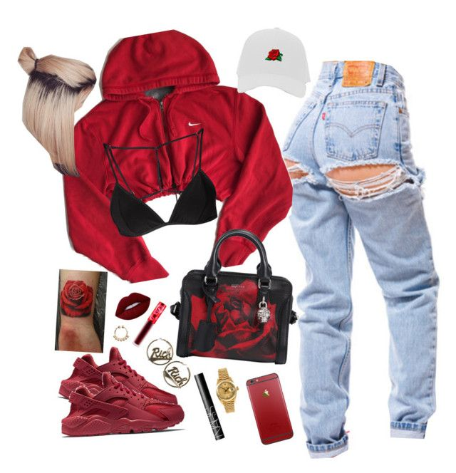 Roses | Kanye West by milean ❤ liked on Polyvore featuring NIKE, Lime Crime, Joyrich, HM, Alexander McQueen, NARS Cosmetics and Rolex