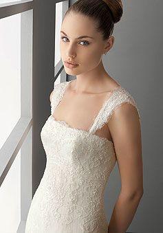Wedding, Dress, Vintage, Lace, Detail, Ivory,