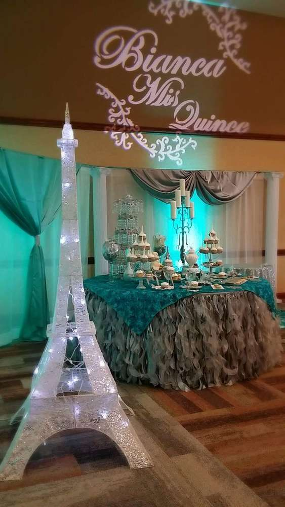 French Parisian Quinceaera Party Ideas French