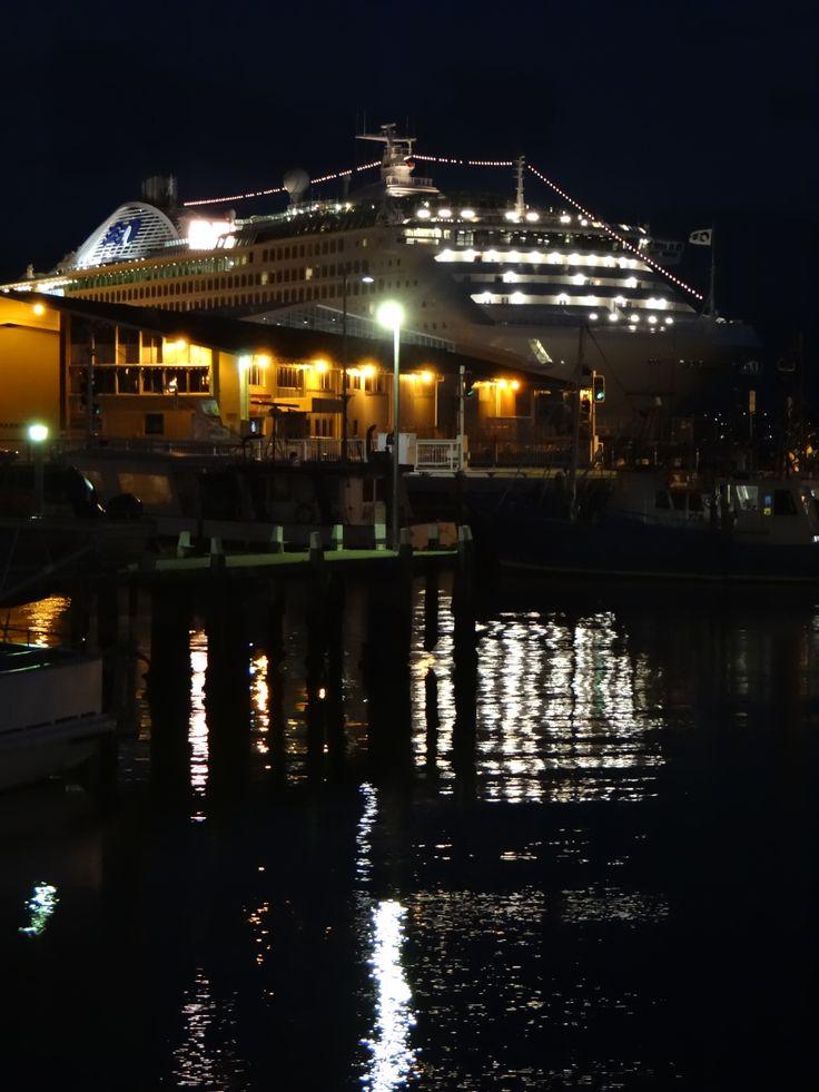 The 'Dawn Princess' docked at Hobart - Tasmania - 2014