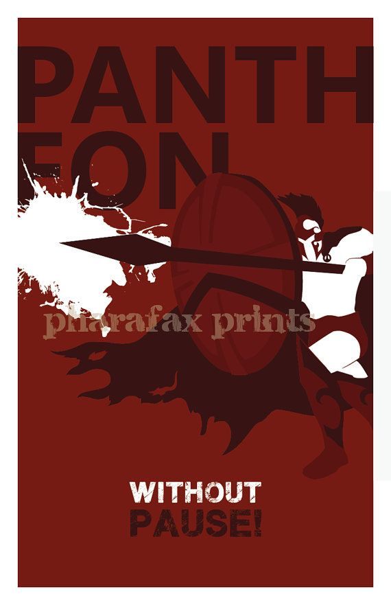 Pantheon: League of Legends Print por pharafax en Etsy